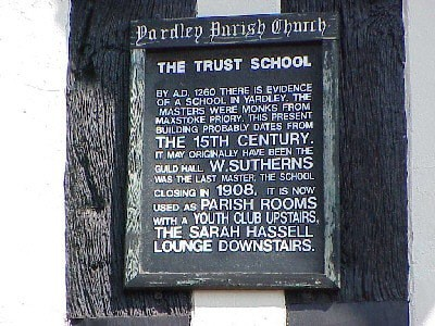 Yardley School Sign